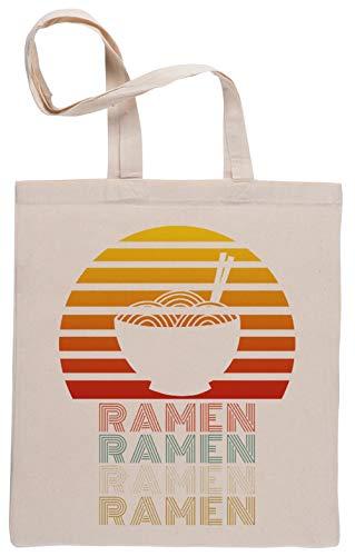 Ramen Noodles Bolsa De Compras Shopping Bag Beige
