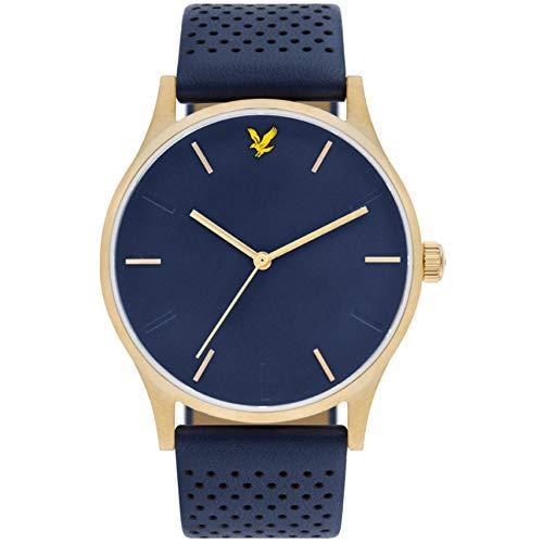 Lyle & Scott Men's Hope Le 42mm Blue Leather Band Quartz Watch LS-6014-04