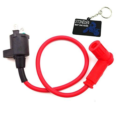 stoneder rojo Racing bobina de encendido para 50cc 70cc 90cc 110cc 125cc...