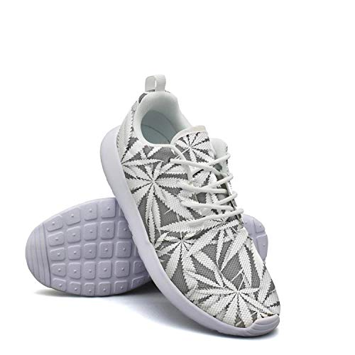 Marijuana Leaf Cannabis Plant Walking Shoes for Womens Athletic Skid-Proof Best Running Shoes