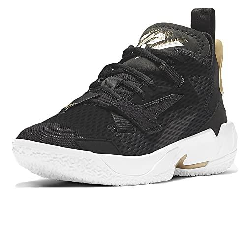 Nike Jordan Why Not Zer0.4, Scarpe da Basket, Black White Metallic Gold, 38 EU