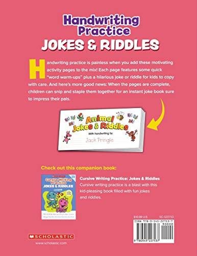 Jokes /& Riddles Cursive Writing Practice