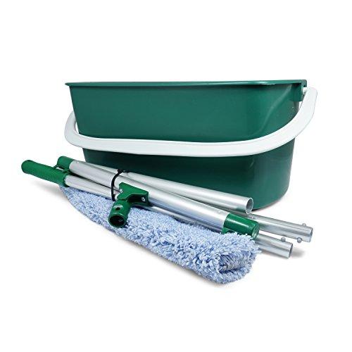 HARO Spar-Set Wisch-Eimer + Wischwiesel + Relief Bezug, optimal zur Bodenpflege