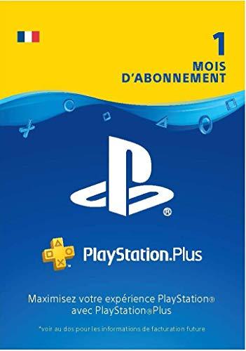 Sony PlayStation Plus, Carte d'abonnement de 1 mois, Code jeu à télécharger, Compte français