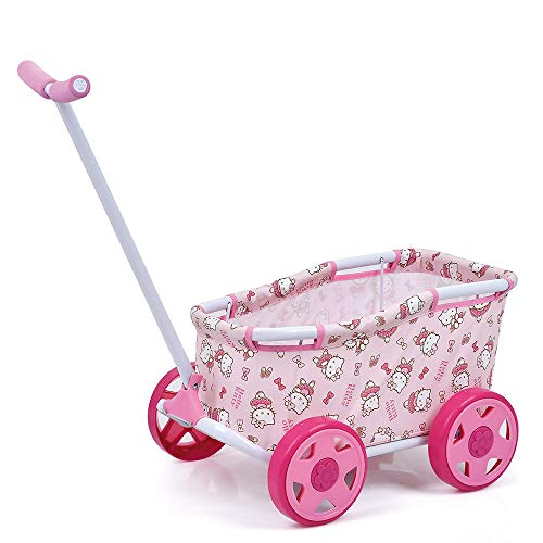 Hauck Toys For Kids Puppen-Bollerwagen Caddy Mini - Hello Kitty Ballerina Puppenwagen zum Ziehen - Rosa