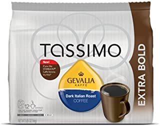 Gevalia Dark Italian Roast Coffee - Extra Bold - T Discs for Tassimo Brewers (2pack)