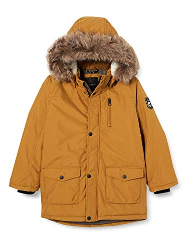 NAME IT Jungen NMMMIBIS Parka Jacket PB Jacke, Golden Brown, 122