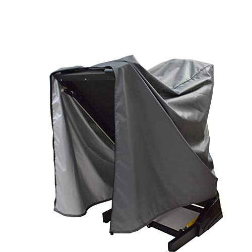 """Mini Lustrous Treadmill Cover, Folding Running Machine Protective Cover Dustproof Waterproof Cover for Indoor Or Outdoor Use, 46"""" L x 38"""" W x 66"""" H(Gray)"""