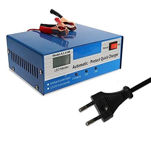 Arrancador De Coches 1pcs 1 2V / 24V Cargador de batería rápida automática Reparación de pulsos inteligentes Auto Car Truck Storage (Color : C)