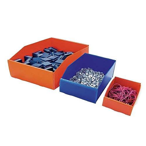 Pack de 100 Bacs à Bec plastique alvéolaire 180x120x65 mm Bleu Mat - TIGGRE.FR