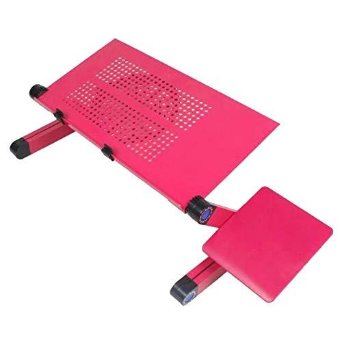 MISSMAO_FASHION2019 Supporto PC Portatile Angolazione Regolabile-Tavolino per Laptop MacBook PRO MacBook Air Unibody iPad Scrivania di Lega di Alluminio Rose Red(Un Grande Fan&Scheda Mouse) 480x260mm