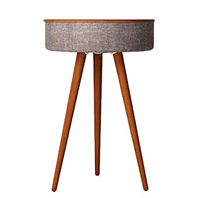 AYUSHOP Home Studio Smart Table with Built in 360° Bluetooth Speaker & Wireless Qi Charger - Ash Wood Night Stand- Modern & Functional Coffee Table & Night Stand,PrimaryColor from AYUSHOP