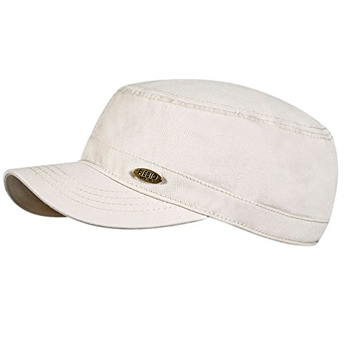 fiebig Herren & Damen Kubacap Schildmütze Basecap Schirmmütze UV-Schutz 50+ 47312 (Beige, 59)
