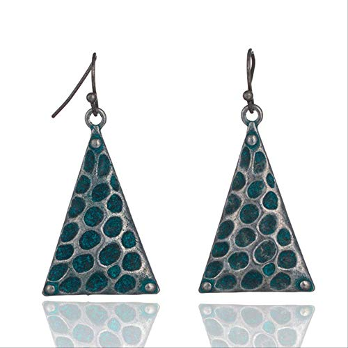 Earings vacances Vintage élégant cadeau ethnique bohème irrégulière Boucles d' oreilles pendantes pour le cadeau Femmes Accessoires -triangle