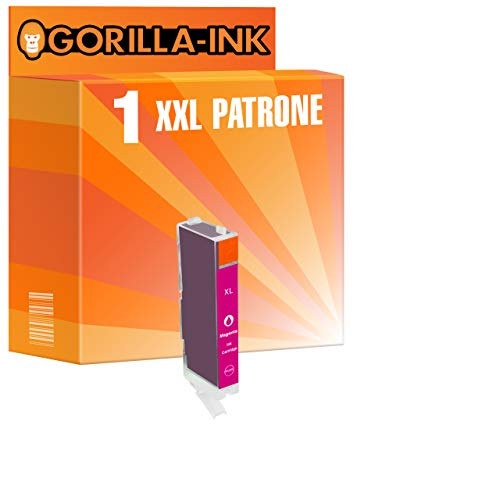 Gorilla-Ink 1 Cartucho de Tinta Compatible con Canon CLI-551XL   para Pixma IP-8720 IP-8750 MG-6350 MG-7120 MG-7150 MG-7550   Magenta 12ml