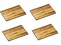 kesper, tagliere in legno di acacia, tagliere per la colazione, legno, 4er xl set brotzeit