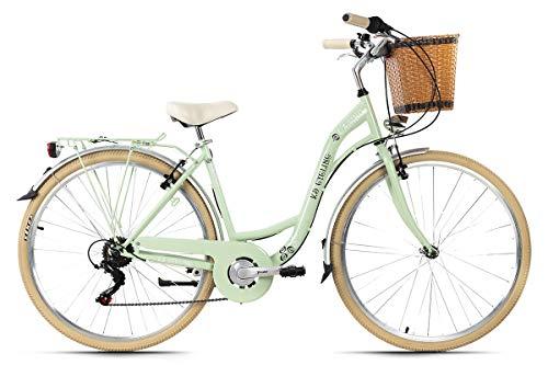 KS Cycling Damenfahrrad Cityrad 28'' Casino mintgrün 6Gänge RH48cm mit Korb