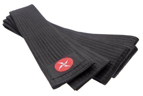 Shihan - Cinturón Negro 100% Algodón Suave Negro de 320cm x 8cm de Ancho para Kendo, Aikido, Kimono