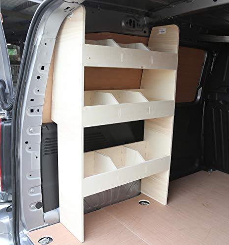 Estantería de madera contrachapada Vanify Peugeot Partner SWB 2019+ – Sistema de almacenamiento NS – Estante de herramientas