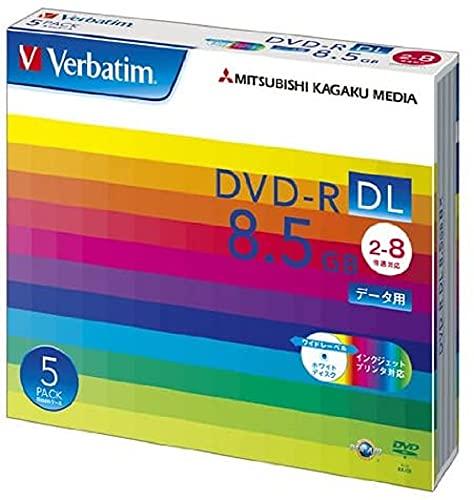 Verbatim バーベイタム 1回記録用 DVD-R DL 8.5GB 5枚 ホワイトプリンタブル 片面2層 2-8倍速 DHR85HP5V1