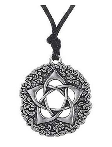 Collier Fleur de Lotus et Mandala - Symbole de Géométrie Sacrée - Bijou OM Bouddhiste zen yoga Amulette - Cadeau Original Unisexe Femme Homme