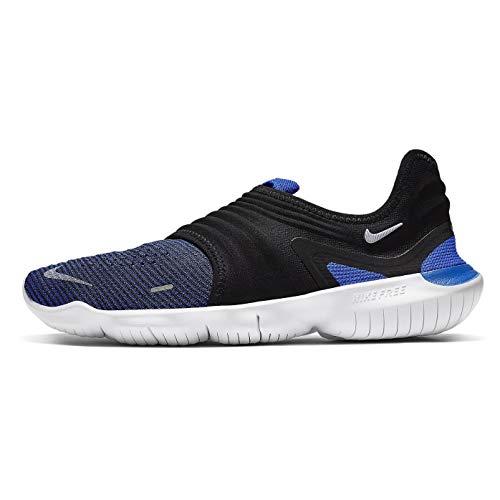 Nike Herren Free Rn Flyknit 3.0 Laufschuhe, Mehrfarbig (Racer Blue/White/Black 402), 42 EU