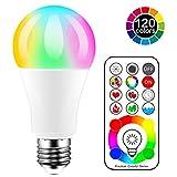 iLC Bombillas Colores RGBW LED Bombilla Cambio de Color Edison - RGB 120 de colores Regulable - 10 vatios E27- Control remoto Incluido para Casa Decoración Bar Fiesta Ambiente Ambiance Iluminación