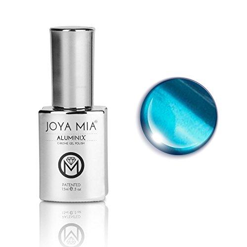 Joya Mia Aluminix Super brillante base de plata para esmalte de uñas de gel cromado, uso sin base plateada para obtener efecto de gelatina, larga duración, fácil de remojar de 0.5fl oz