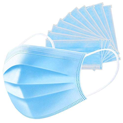 LuzuLiyo ® electrostatic polypropylene micro-fiber material, 3-Ply Meltblown Disposable Surgical face Mask with filter (Pack of 50).