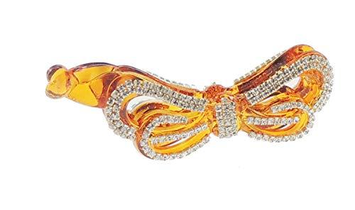 Extra brillant Diamante Cristal Soirée Mesdames luxe cheveux banane clip dans 4 formes