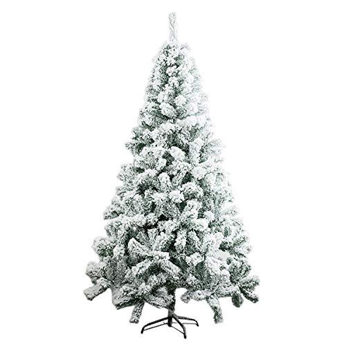 TITO Albero di Natale, Pino Artificiale ricoperto da Neve e Decorato, Materiale PVC + PP + Ferro,Folto E Realistico, Rami in PVC,Neve Anti Caduta,Effetto Naturale (240cm)