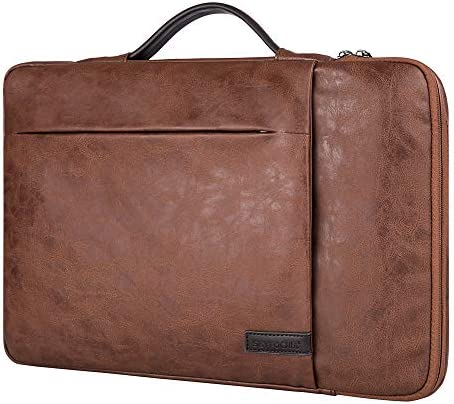15 6 Inch Laptop Sleeve Case Computer Bag 360 Protective Leather Waterproof Laptop Shoulder product image