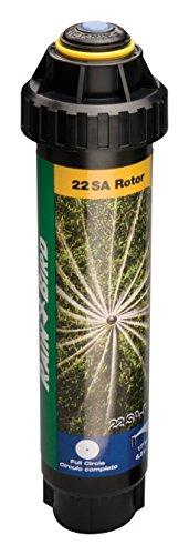 Rain Bird 22SAF Mini Rotary Pop-Up Spray, 360° Full Circle Pattern, 18' - 24' Spray Distance, 4' Pop-up Height,Blacks