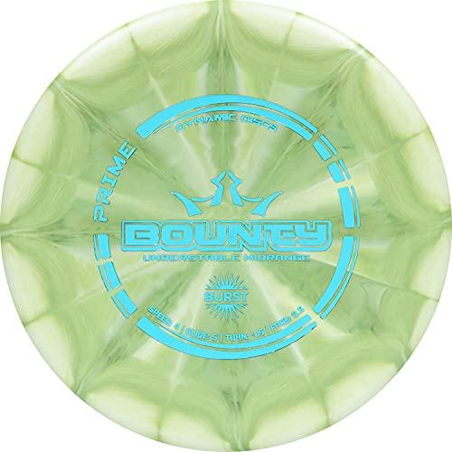 Dynamic Discs Prime Burst Bounty Disc Golf Midrange | 170g Plus | Beginner Friendly Frisbee Golf Midrange | Stamp Color and Burst Pattern Will Vary (Green)