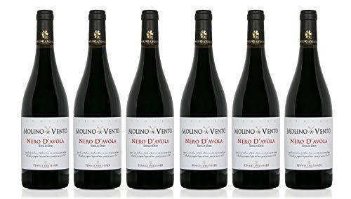 Confezione 6 bottiglie NERO D'AVOLA | Vino Rosso Sicilia DOC...