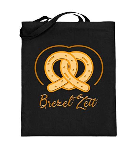 Chorchester Brezel Zeit für Bäcker und Brezel Fans - Jutebeutel (mit langen Henkeln)