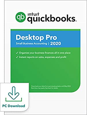 QuickBooks Desktop Pro 2020 Accounting Software for Small Business with Shortcut Guide [PC Download]