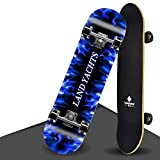 LW 31 '' Skateboard Comes Complete 9 Ply Maple Wood Double Kick Pro Skateboards para Adolescentes Principiantes Jóvenes...
