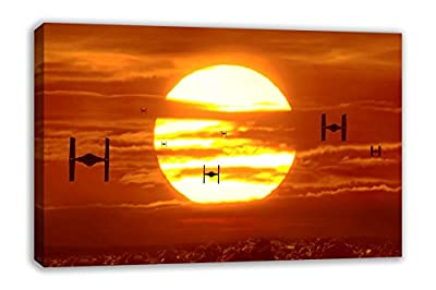 Tie Fighters Sunset Star Wars Vii The Force Awakens Canvas Wall Art from Dynamo Printing Ltd