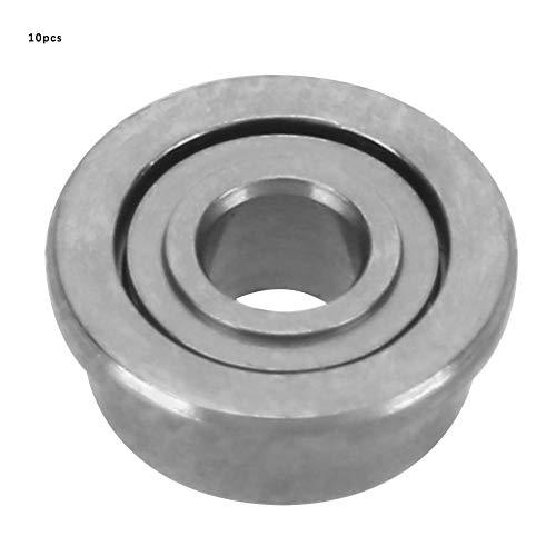 10 unids 1.5/2 / 3mm I.D 4/5 / 7mm O.D Doble lado sellado Ranuras profundas Bridas de acero Rodamientos de una hilera Jaula de acero prensada(F681-ZZ)