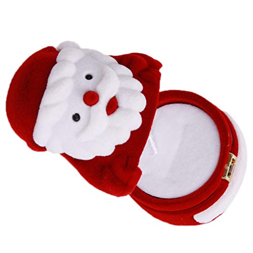#N/A Schwenly - Caja de almacenamiento para anillos, diseño de Papá Noel
