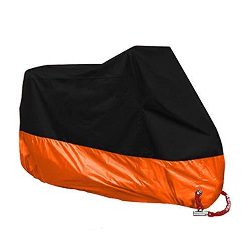 ZC Cubierta de la Motocicleta A Prueba de Agua Moto al Aire Libre Scooter Fundas Bike Tarpaulin Sun Anti UV Rain Funda Moto Accesorios (Color : Orange, tamaño : XL(2001 2100mm))