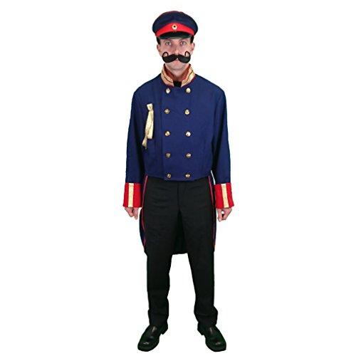 Krause & Sohn Uniform Frack Preußen blau Gr. L, Historisches Kostüm Preussen Militär