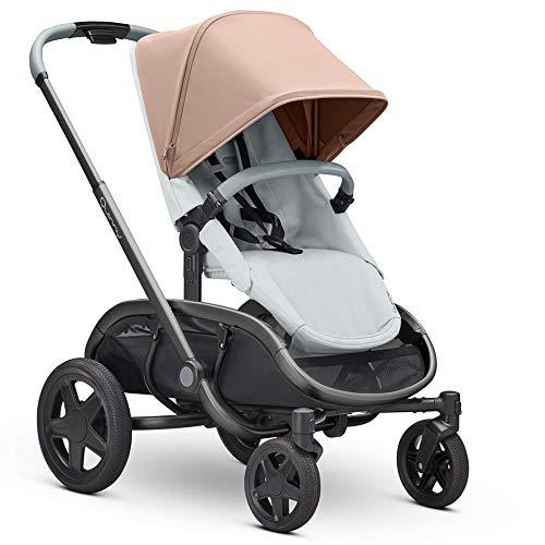 Quinny 1396079000 Hubb Mono XXL Shopping-Kinderwagen, Großer Einkaufskorb, Einfach Klappbarer Kinderwagen, 6 Monate bis 3, 5 Jahre, Cork On grey/rosa, 13.5 kg