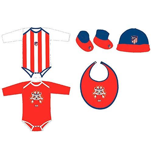 Set regalo bebe Atletico Madrid Talla única. 100% algodón.