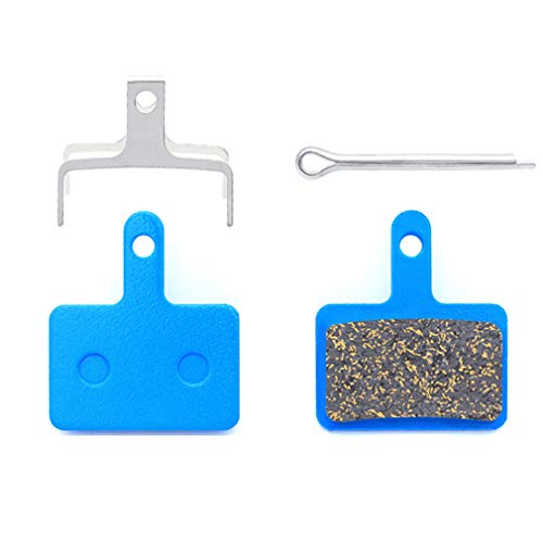 4 Pares de Pastillas de Freno de Disco semimetálicas de Resina de Bicicleta MTB Blue