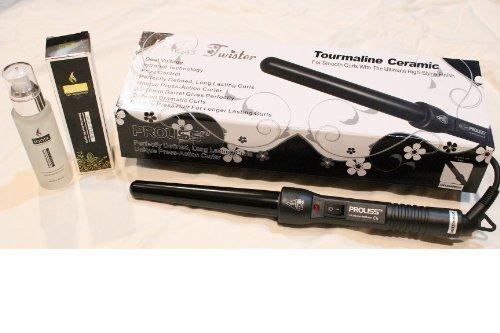 Proliss Twister Tourmaline Ceramic 18/25mm Black with Free Ionix Hair Serum by Iso Hishopper