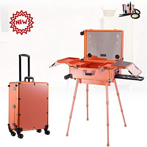 ZBSSH cosmetica-organizer make-up case met licht en spiegel/Bluetooth/grote make-up kunst organizer set