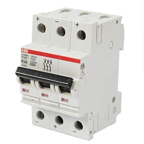 ABB S263UC C20 Leitungsschutzschalter 20A, 3 Pol Sicherungsautomat Type C