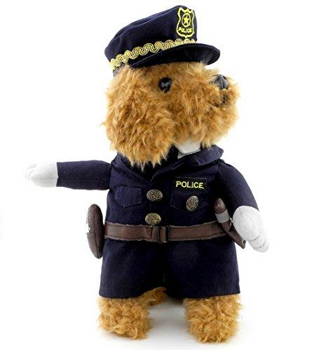 Pegasus pour petit chien chat de moins de 20 kg pour chien/chat policier Costume Hat police noir